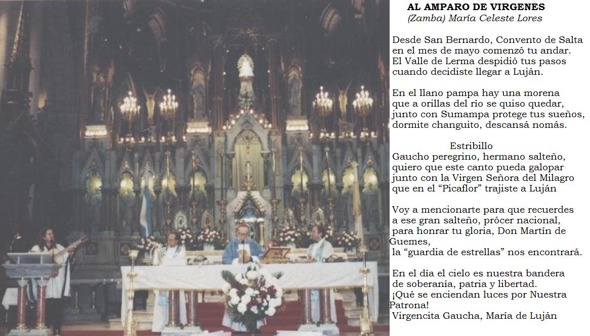 MISA CONCELEBRADA, EN EL OFERTORIO CANTO DE MARÍA CELESTE LORES