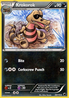 Krokorok Plasma Freeze Pokemon Card