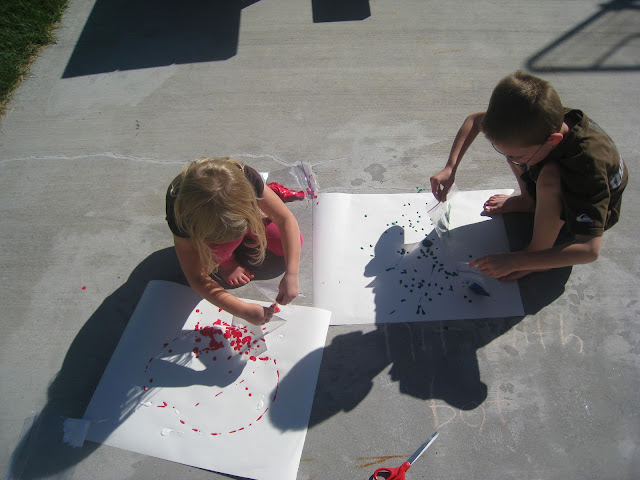 drip painting for kids