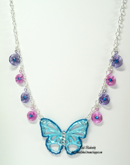 Embellished Dreams: Butterfly Necklace with Spellbinders, Shimmer ...