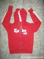 Áo khoác thun nam màu đỏ hàng SI 80k