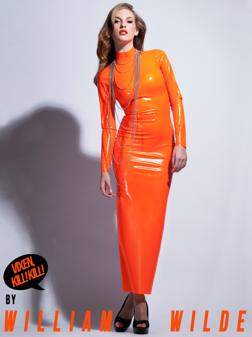 Latex dress orange fotoshude naked galleries