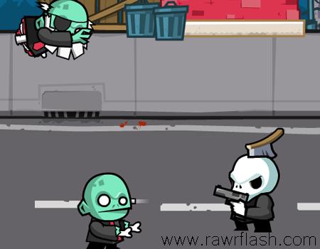 Jogos de matar zumbi: Infernal Mess. Destrua os zumbis atirando neles, faça upgrades, melhore suas armas.