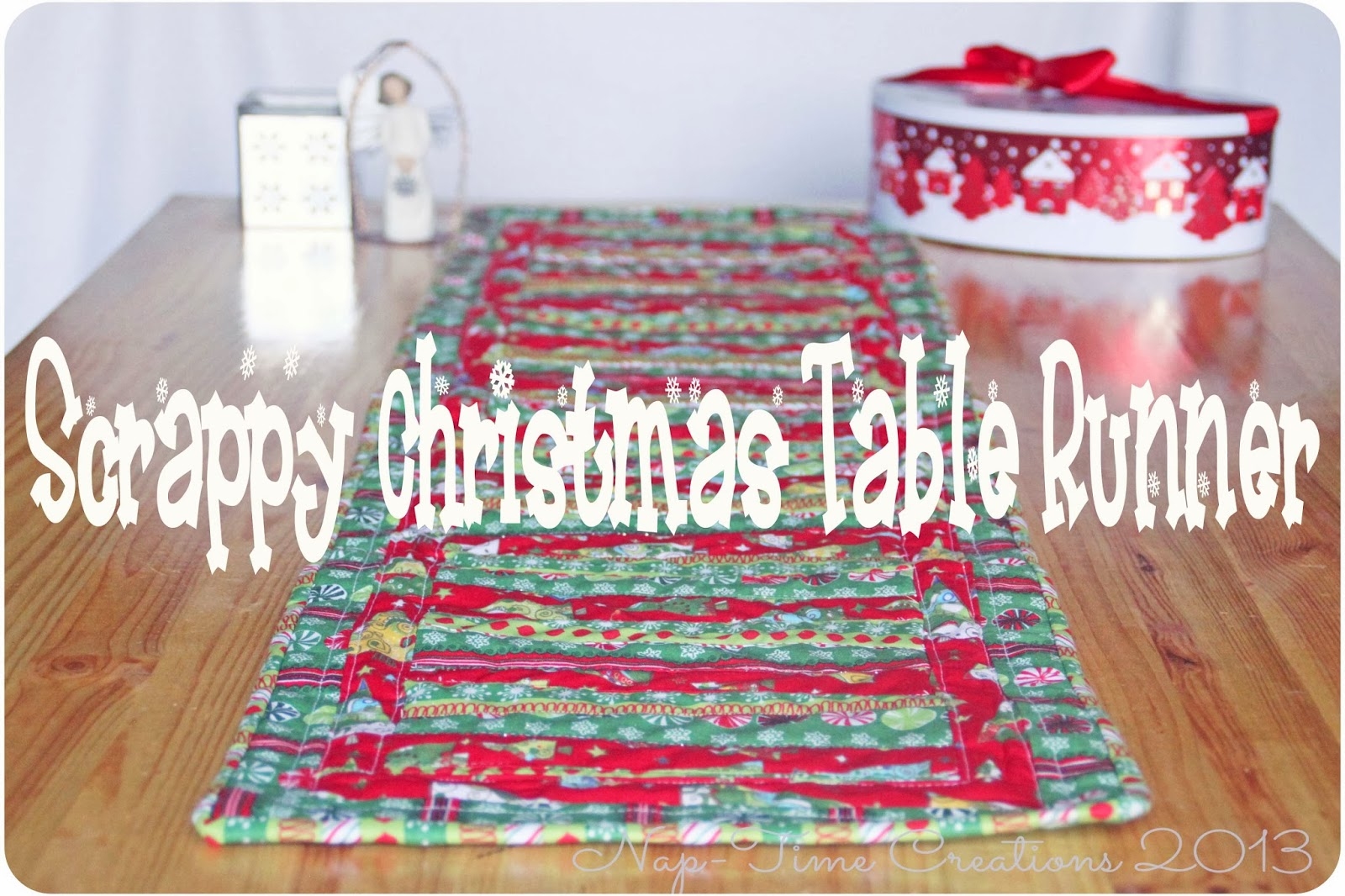 Christmas Table Runner Sewing Tutorial - Life Sew Savory