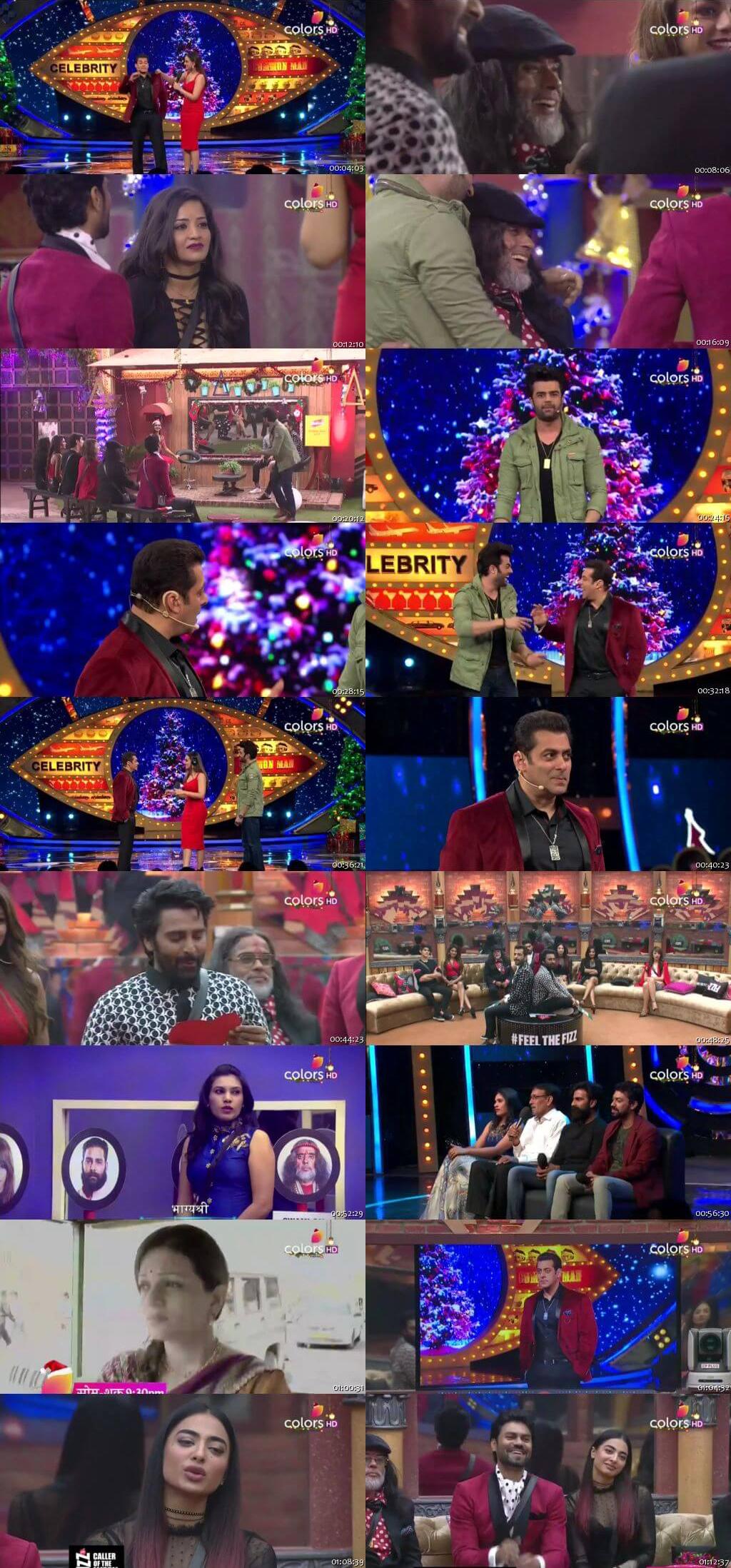 Screenshots Of Hindi Show Bigg Boss 10 25th December 2016 Episode 71 300MB 480P HD
