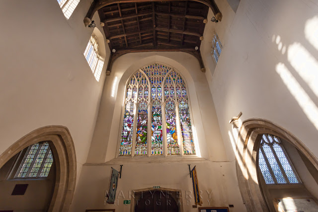 Stained glass window St Mary's church in the Oxfordshire town of Witney by Martyn Ferry Photography