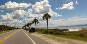 Straße von Mexico Beach, Florida USA