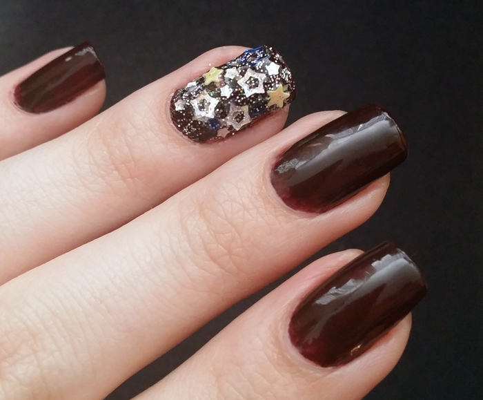 Witch Nails Brown Nails With Stars