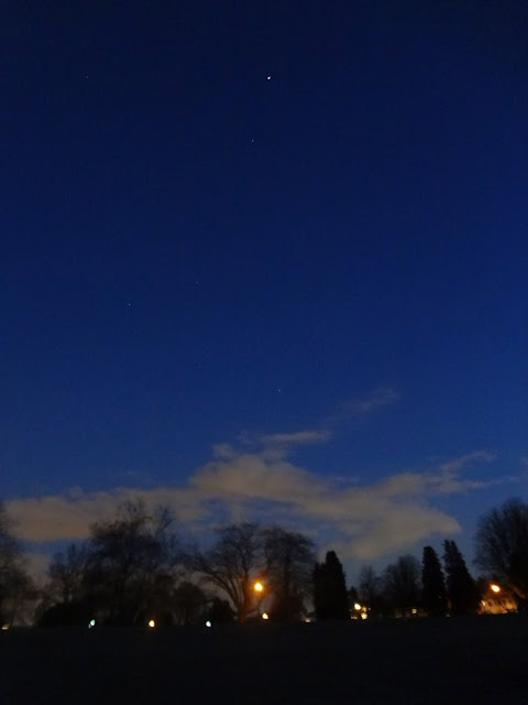 clear blue starry night in vancouver