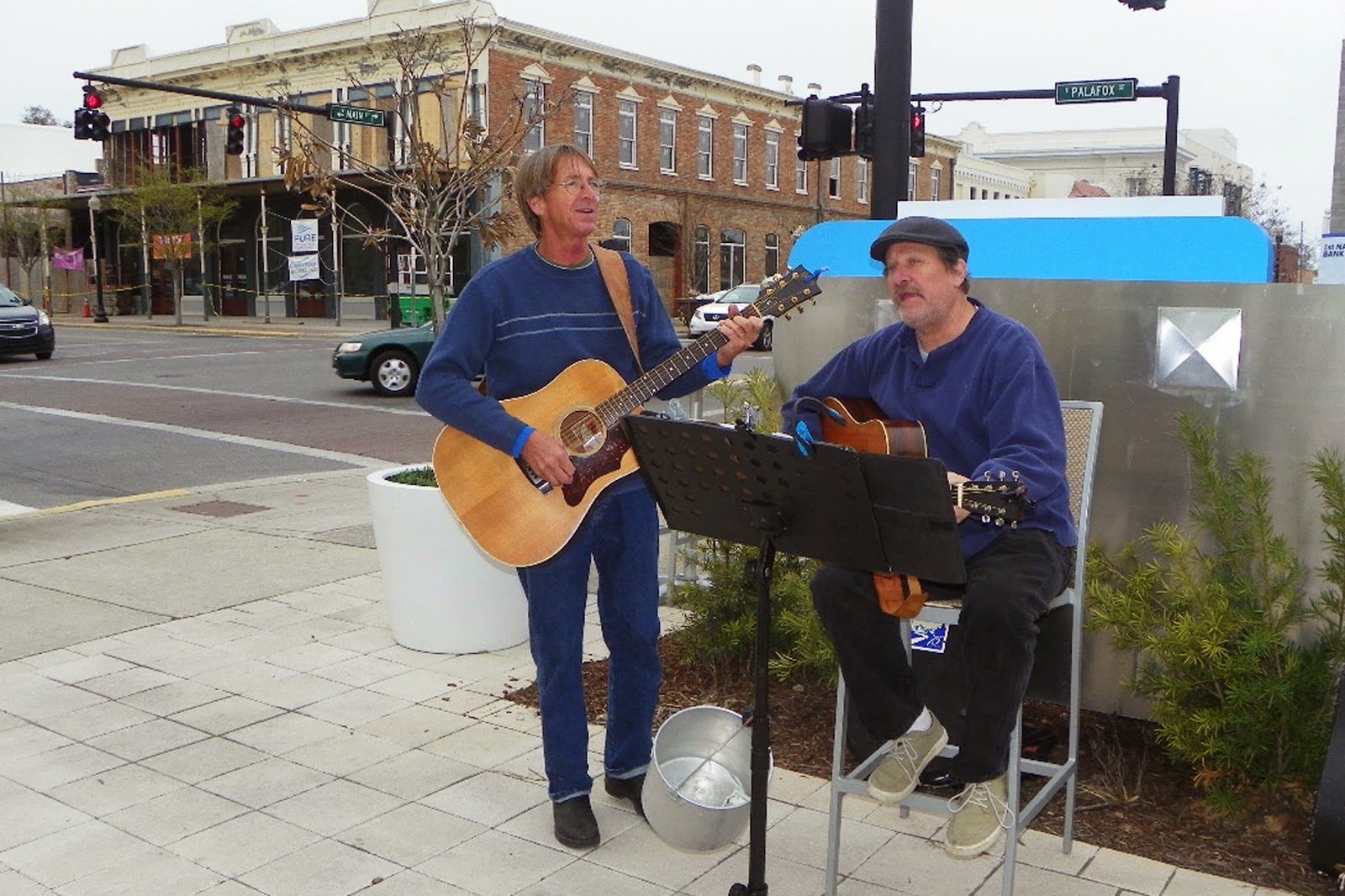 Live music at farmers market in Downtown Pensacola