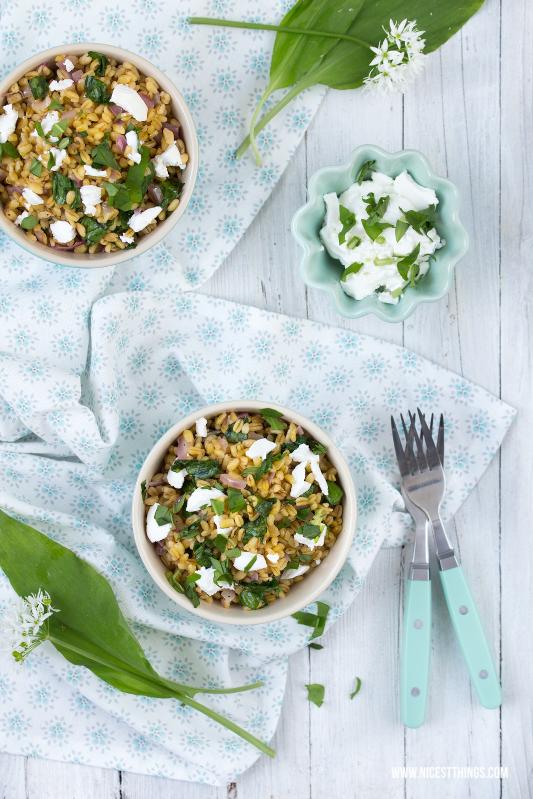 Foodstyling, Foodphotography: Ramson, Wild Garlic, Ebly, Goat Cheese / Bärlauch Risotto mit Ebly und Ziegenkäse