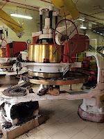 Rolling machine undergoing maintenance, Boh Tea plantation
