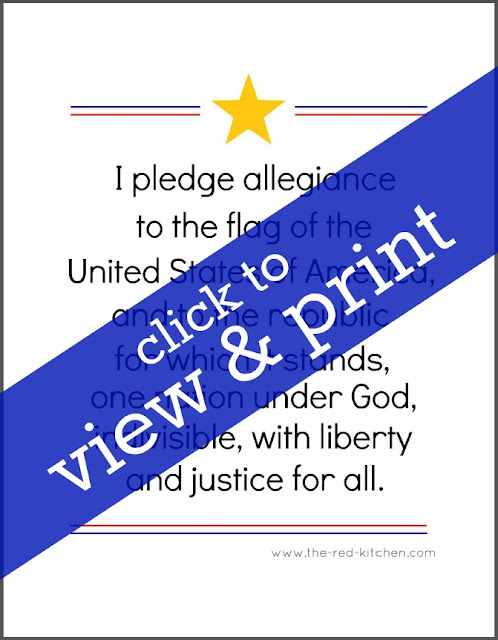 picture relating to Pledge of Allegiance Printable named the crimson kitchen area: The Pledge of Allegiance (Cost-free printables