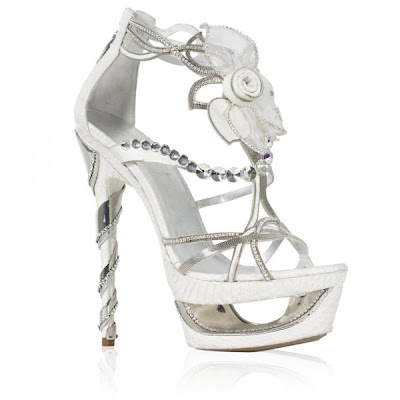white platform heels, bling shoes, crystal heels