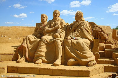 Great Roman Empire Sand Sculpture Exhibition in Russia Seen On www.coolpicturegallery.us