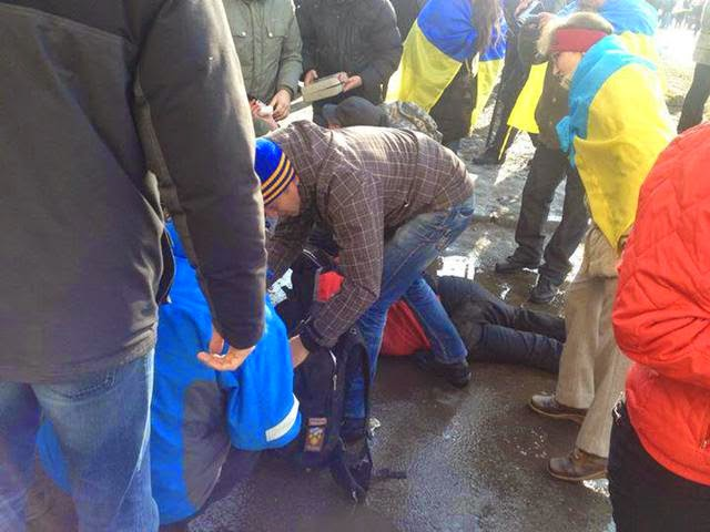 A terrorist attack took place in Kharkov during the commemoration of the Maidan's anniversary