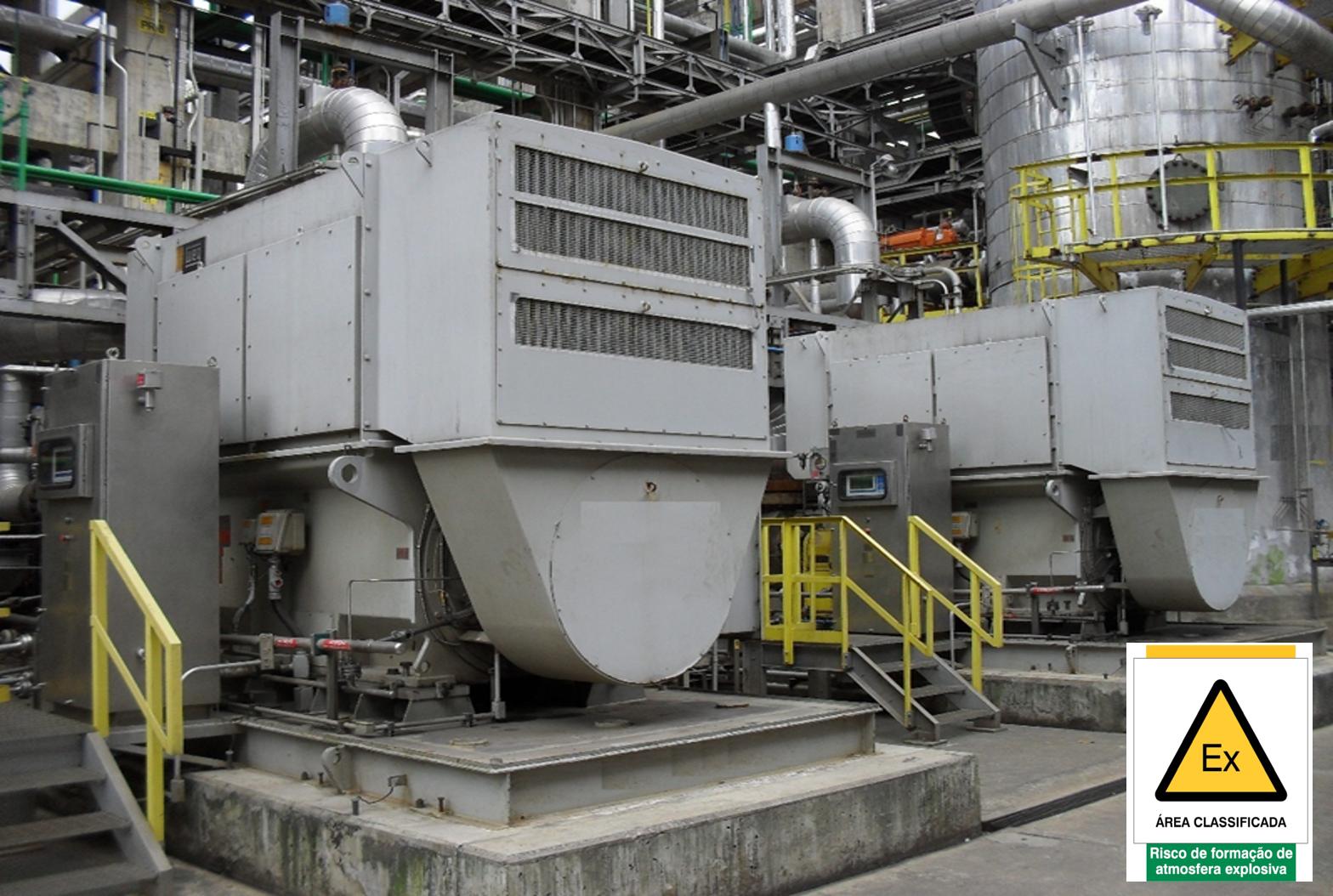 """Motores com tipo de proteção Ex """"pzc"""" – Invólucros Pressurizados – ABNT NBR IEC 60079-2"""