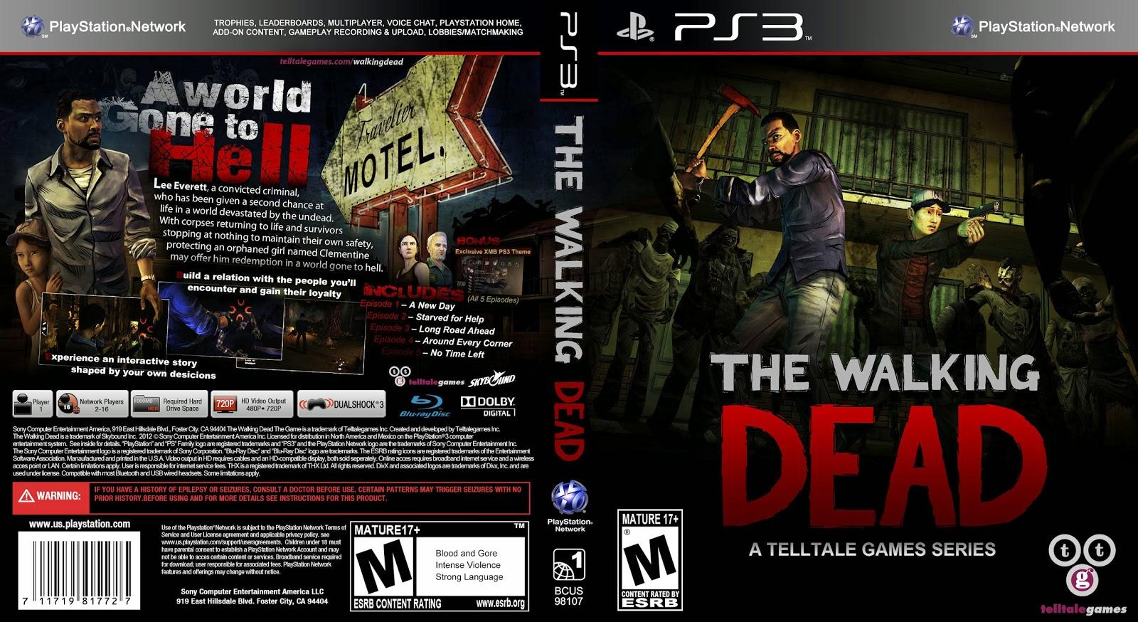 Capa The Walking Dead PS3
