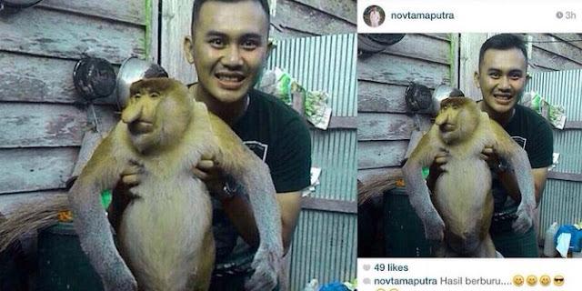 Pamer Bekantan Hasil Buruan, Novtama Dikecam Netizen