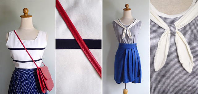 vintage nautical breton striped top