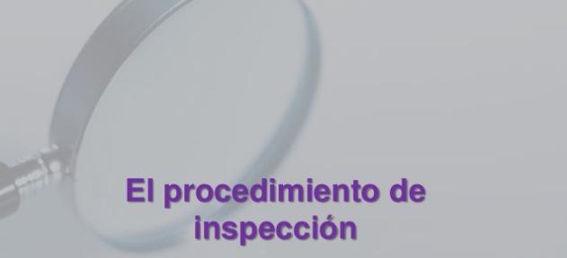 Procedimiento de inspeccion y Derecho Tributario