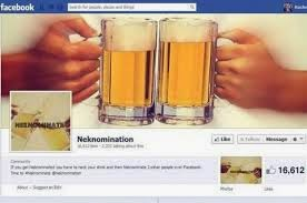 Neknomination Facebook