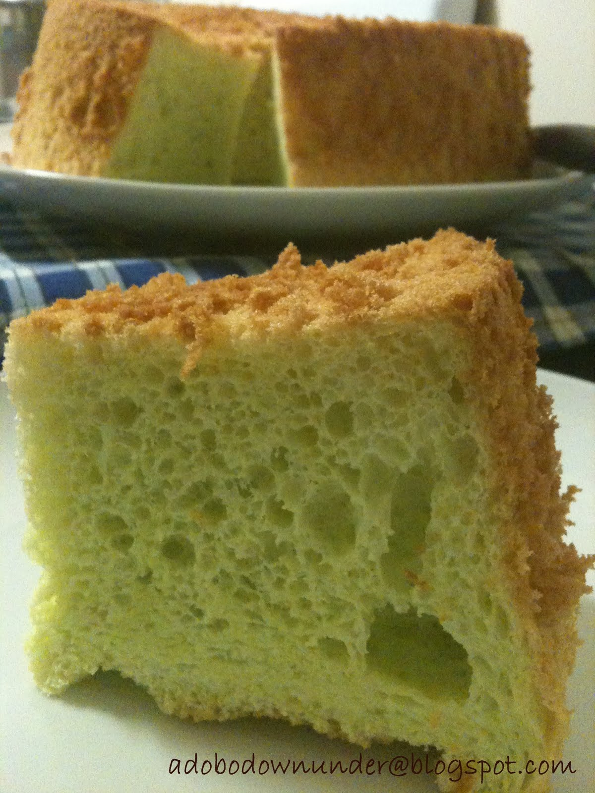 Filipino Pandan Chiffon Cake Recipe