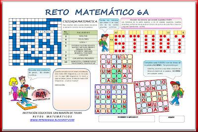 retos matematicos, problemas de ingenio, problemas de ingenio matemático, matemática divertida, Sudoku, Cruzadadas, Cruzapalabras