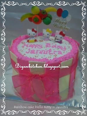 Jual Kue Ulang Tahun Anak : Kue ultah Hello Kitty | Biyan Cake