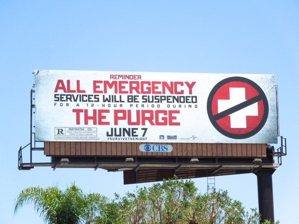 Purge movie billboard