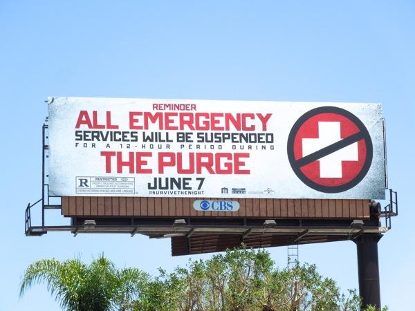 Purge movie billboard