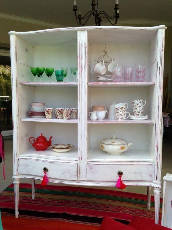 Vintouch muebles reciclados pintados a mano mueble - Muebles antiguos pintados de blanco ...