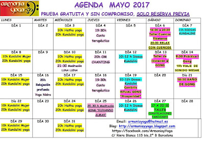 ACTIVIDADES MAYO 2017