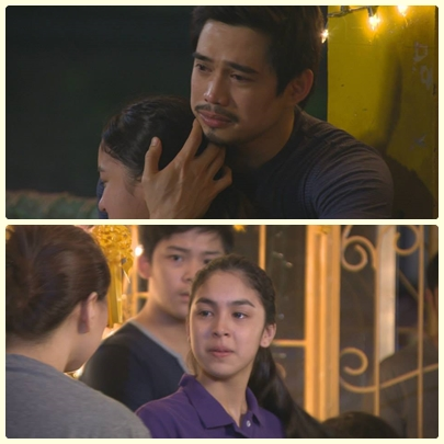 Julia Barretto with James Blanco and Ara Mina on MMK