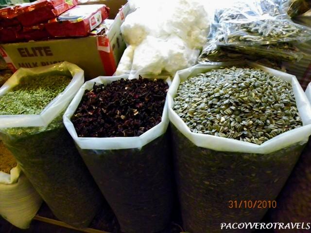 Semillas y especies en el Souq Waqif