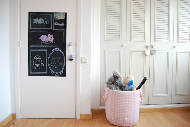 Chalkboard with frames DIY. Tutorial pizarra fácil