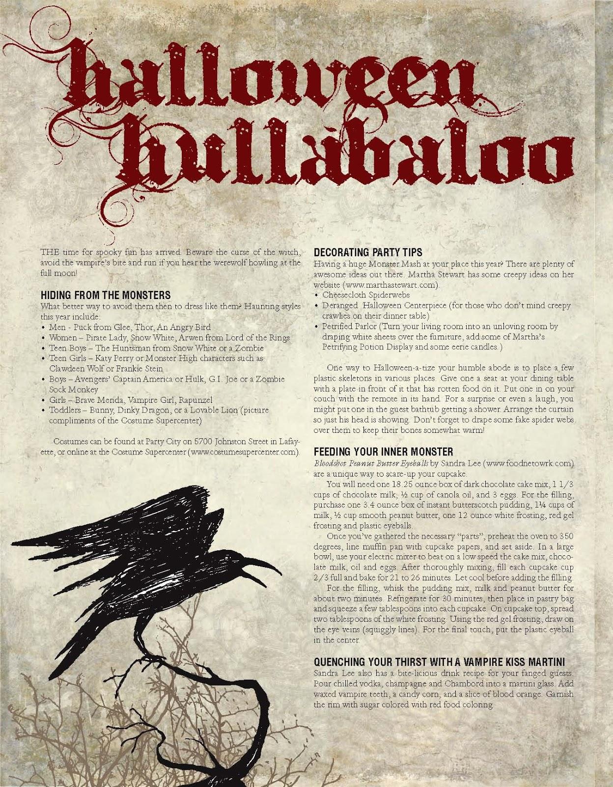 008 magazine articles halloween hullabaloo a 008 magazine article - Article About Halloween