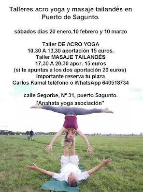 talleres acro yoga y masaje taliandeden Puert de sagunto