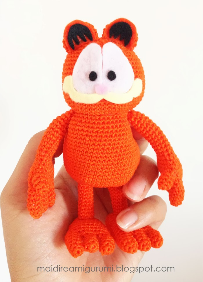 Amigurumi Free Patterns Garfield : Mai Dire Amigurumi: Amigurumi Garfield