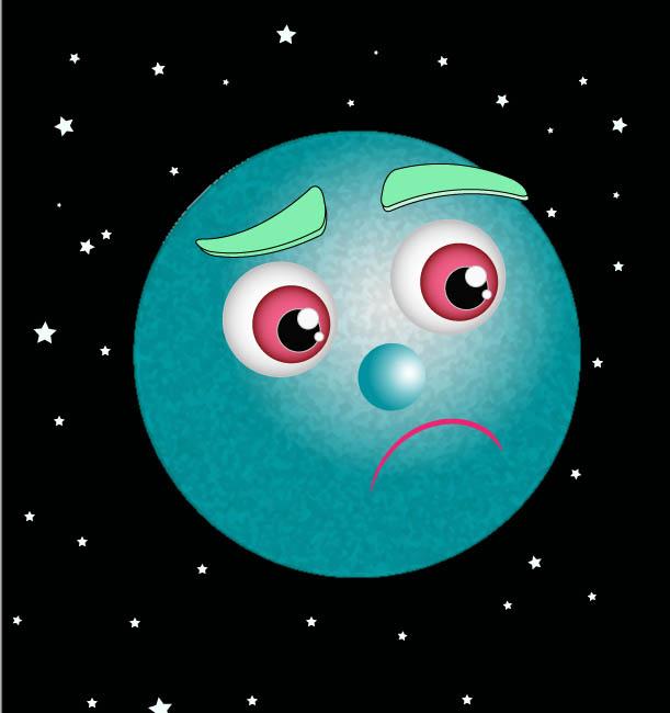 pluto planet cartoon - 611×650