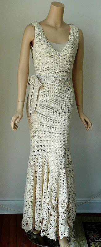 Crinochet irish crochet for Crochet wedding dress pattern
