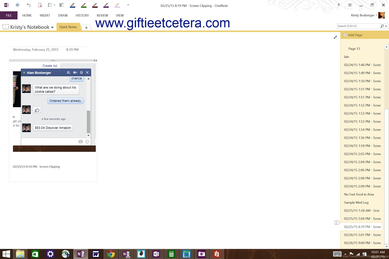 surface pro 3, one note, screenshots, organize, medical logs, google maps