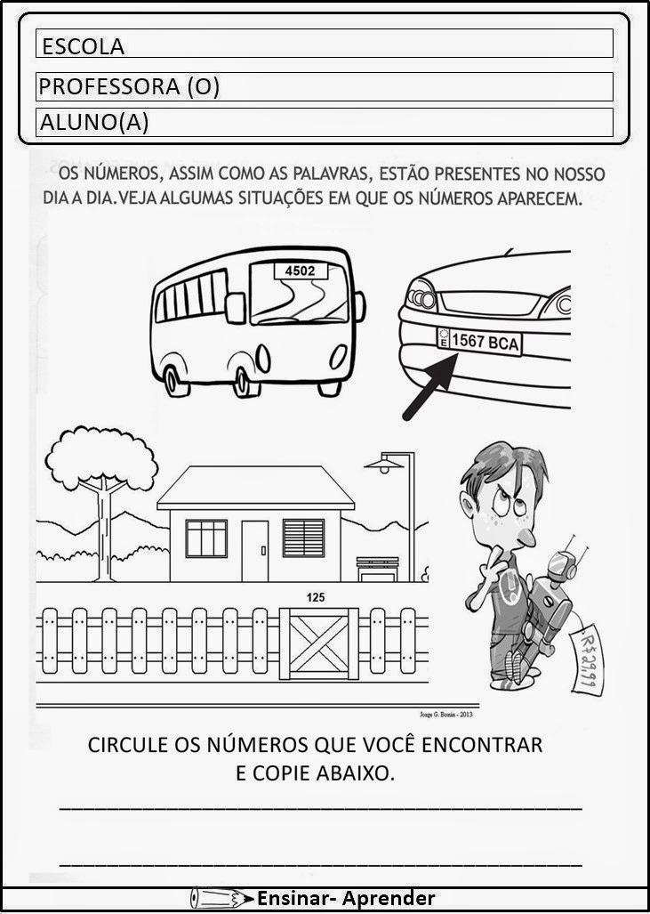 ATIVIDADES DE MATEMÁTICA PARA O 1º ANO INÉDITAS