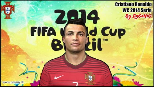 PES 2014 Cristiano Ronaldo Face By DzGeNiO