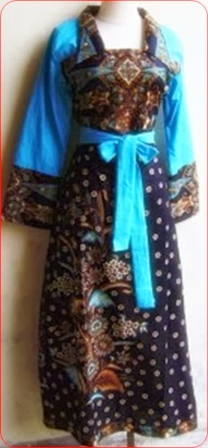 model baju batik muslim biru