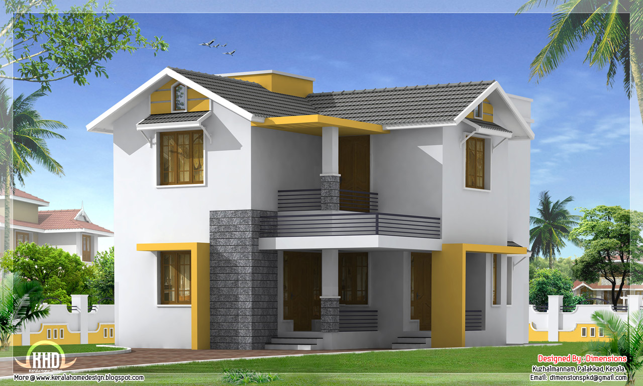 1460 simple budget home design kerala home for Home design picture gallery