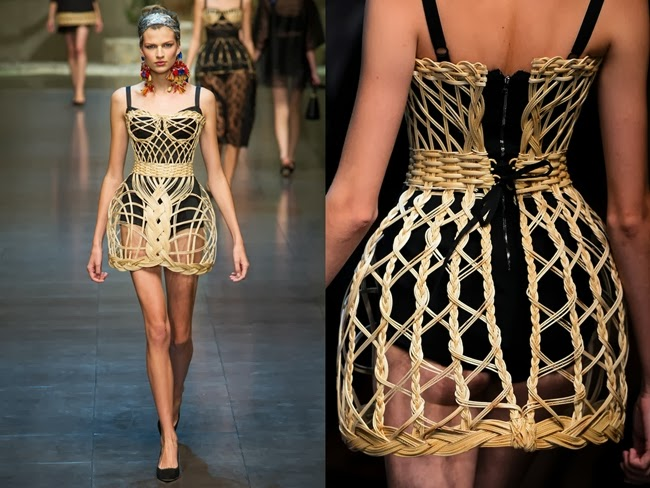 Dolce&Gabbana 2013 SS- Rattan basket dress