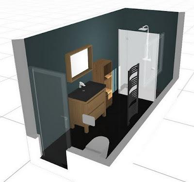 R novation d 39 une salle de bain de 10 m le choix de l 39 enseigne - Casto 3d salle de bains ...