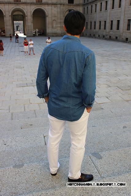 camisa de jean de mango HE