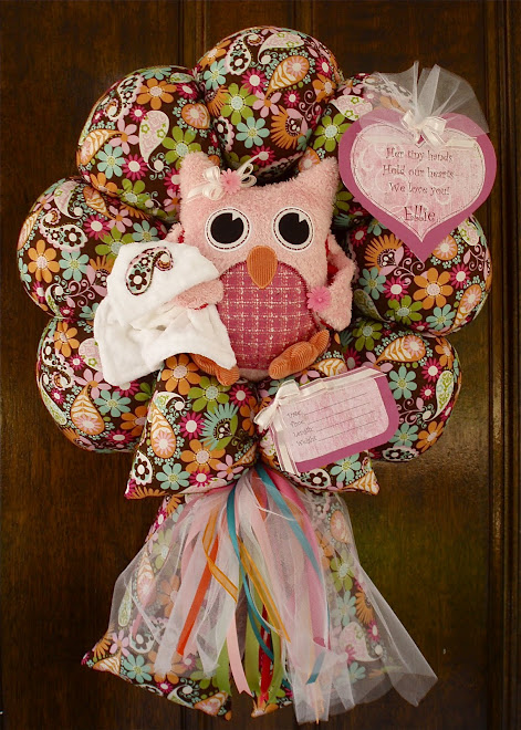 "73. custom ""Ellie"" owl baby wreath"